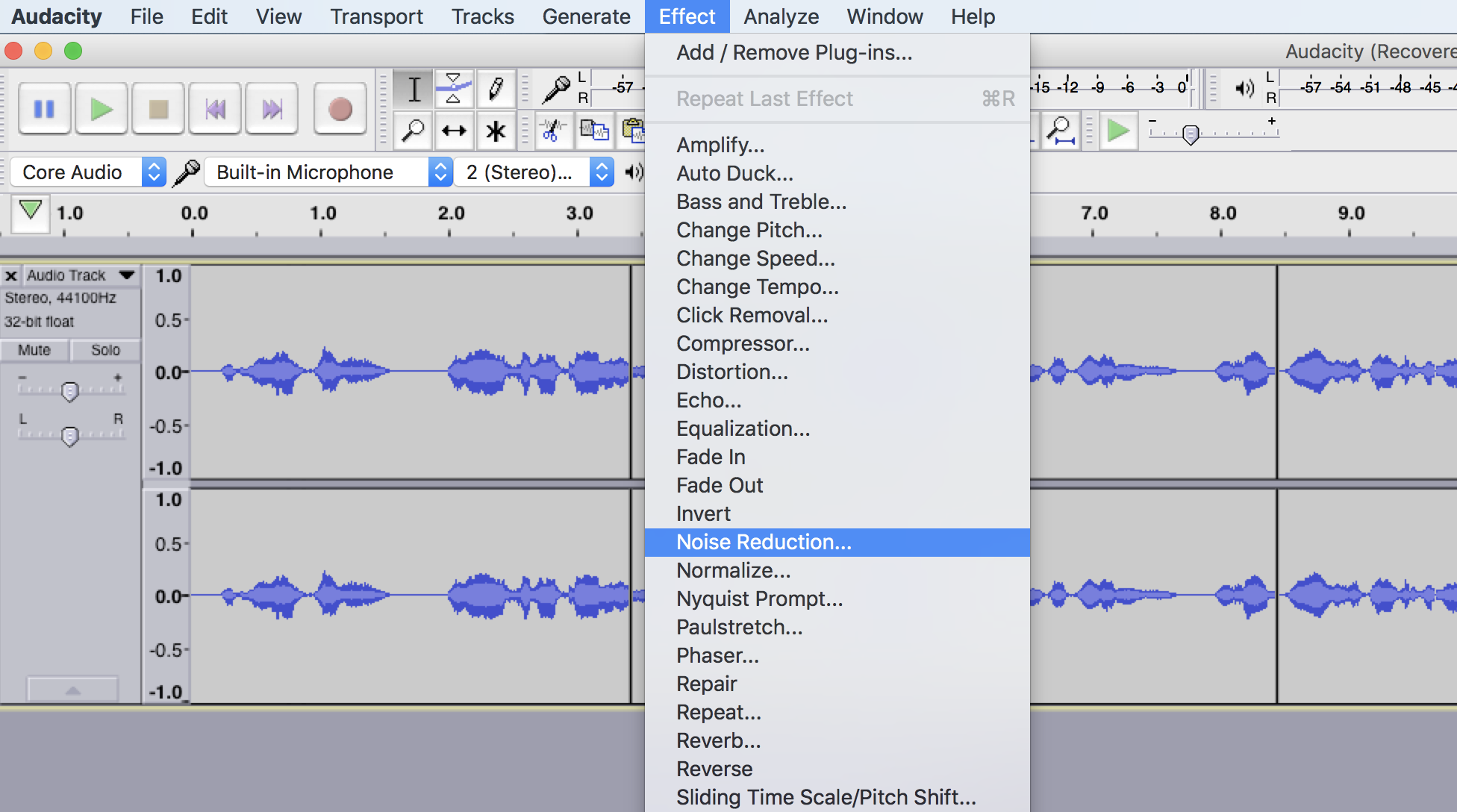 How to Eliminate Unwanted Background Noise Using Audacity